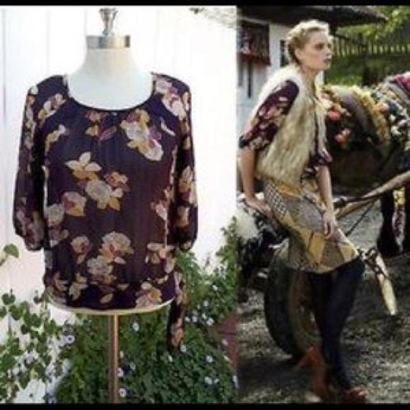 Moulinette Soeurs (Anthropologie) silk top